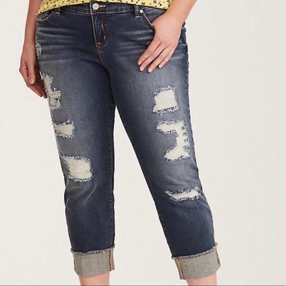 286931bc5 torrid Jeans   Plus Size 22 3x Cropped Boyfriend   Poshmark